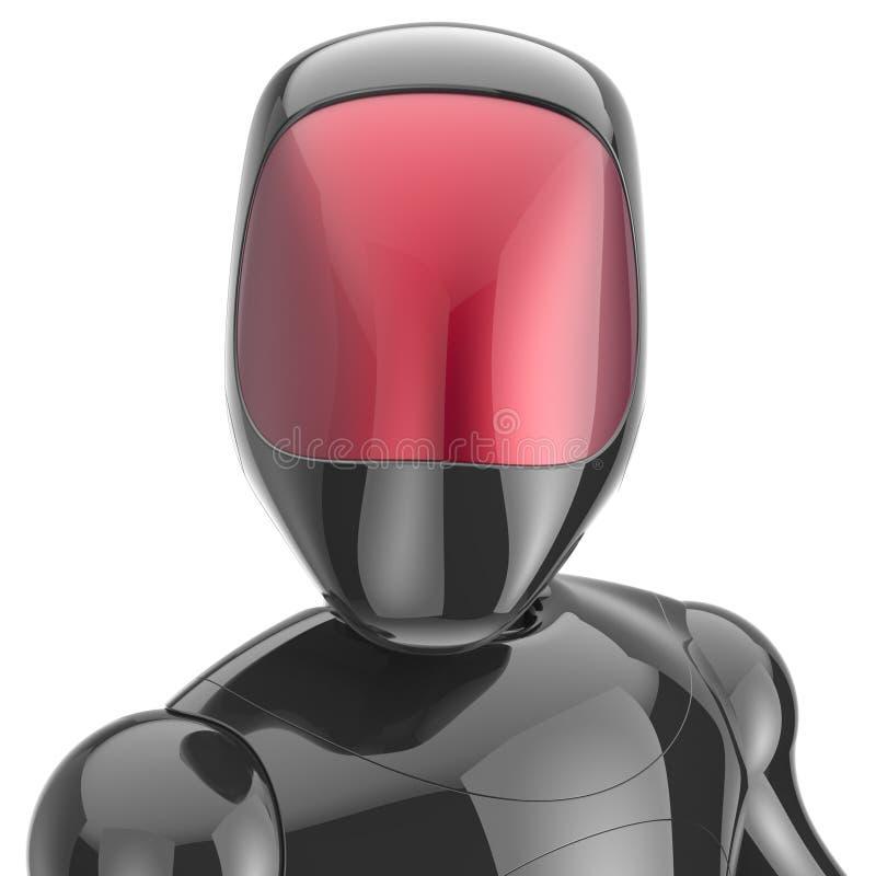 Androïde futuristisch cyberspace van de Cyborg zwart robot high-tech royalty-vrije illustratie