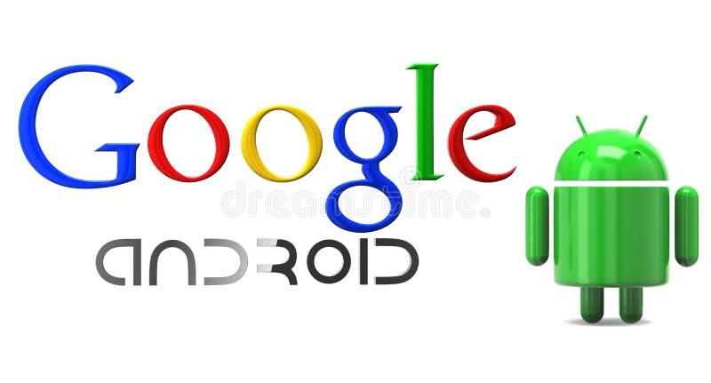 Androïde Google royalty-vrije illustratie