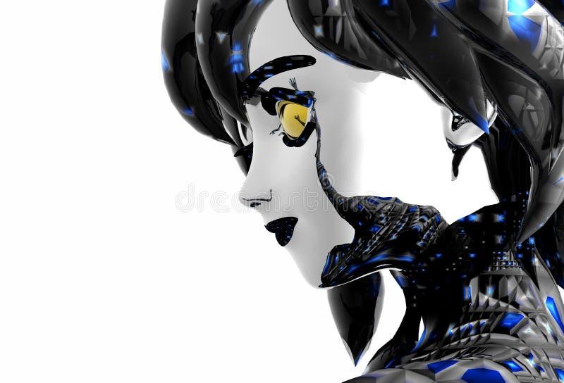 Androïde meisje royalty-vrije illustratie