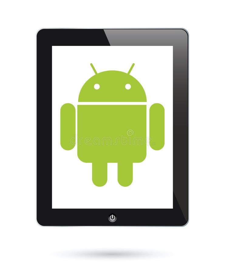 Androïde werkend systeem voor digitale tabletten vector illustratie
