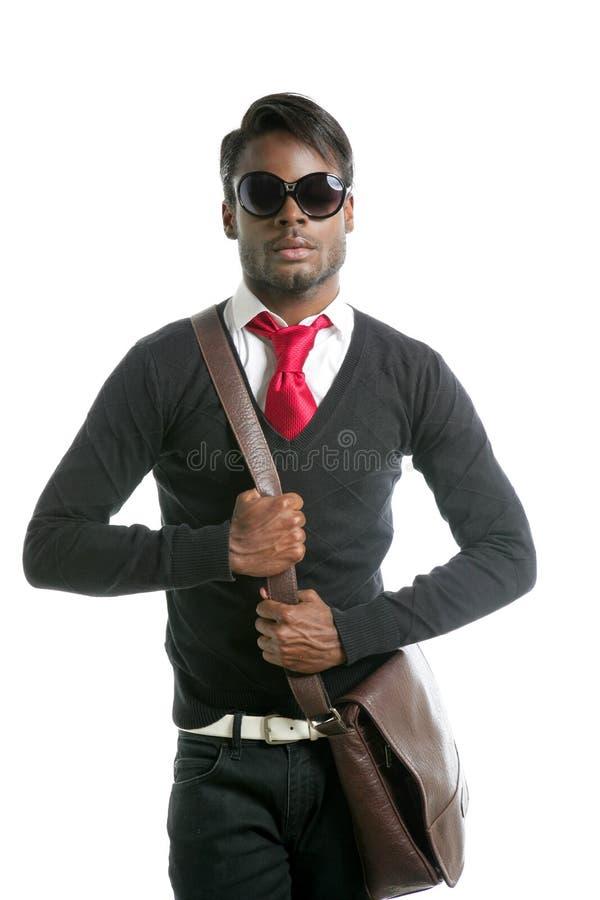 Androginous kijkt zwart Afrikaans model stock fotografie
