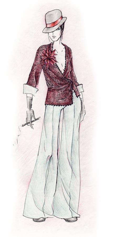 androgyn mode vektor illustrationer
