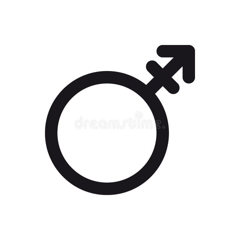 Androgynsymbol Symbol för genus och för sexuell riktning eller teckenbegrepp vektor illustrationer