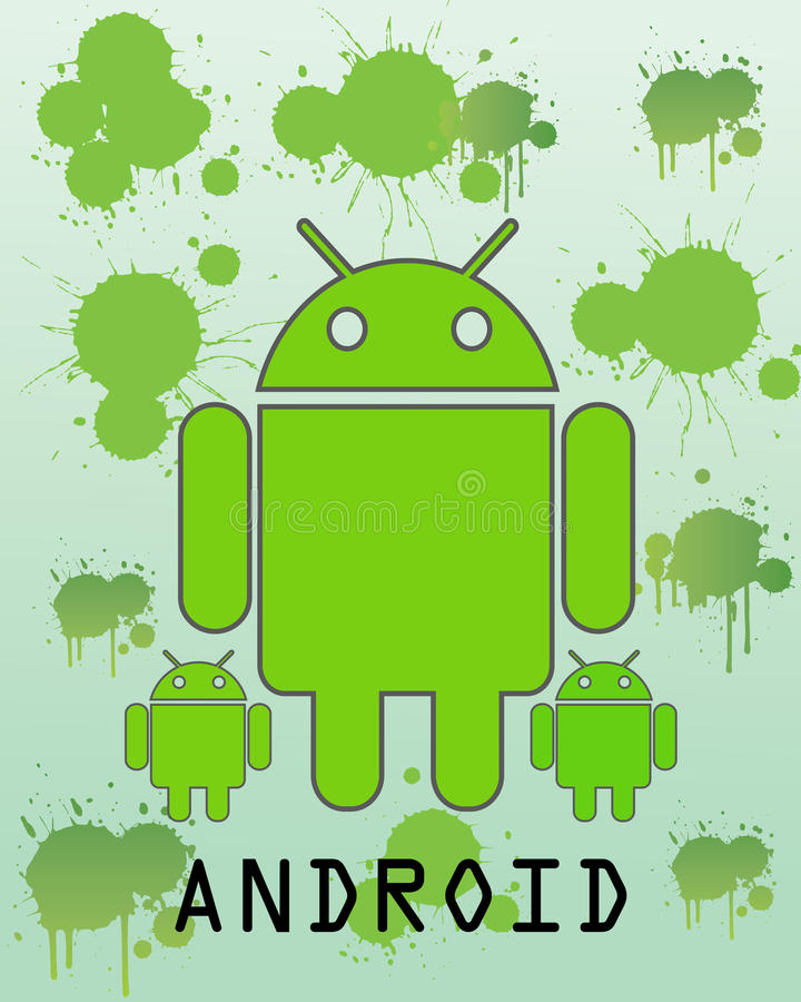 android vektor illustrationer