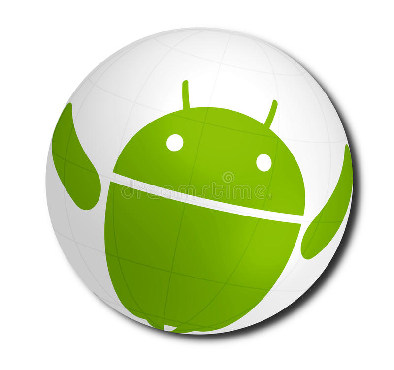 Android ilustração stock