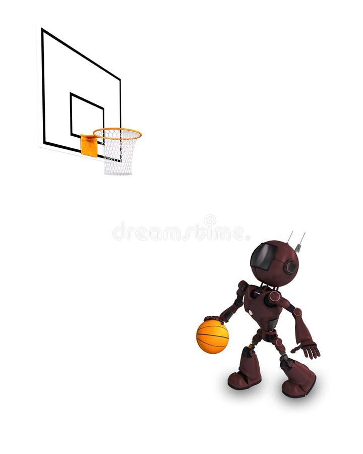 Android-Basketball-Spieler stock abbildung