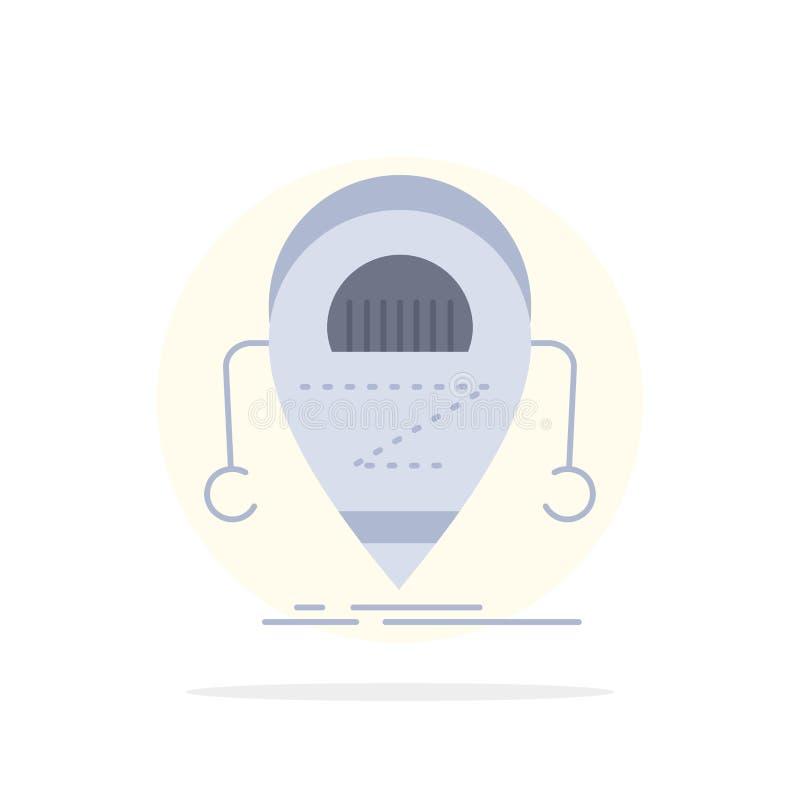 Android beta, droid, robot, för färgsymbol för teknologi plan vektor vektor illustrationer