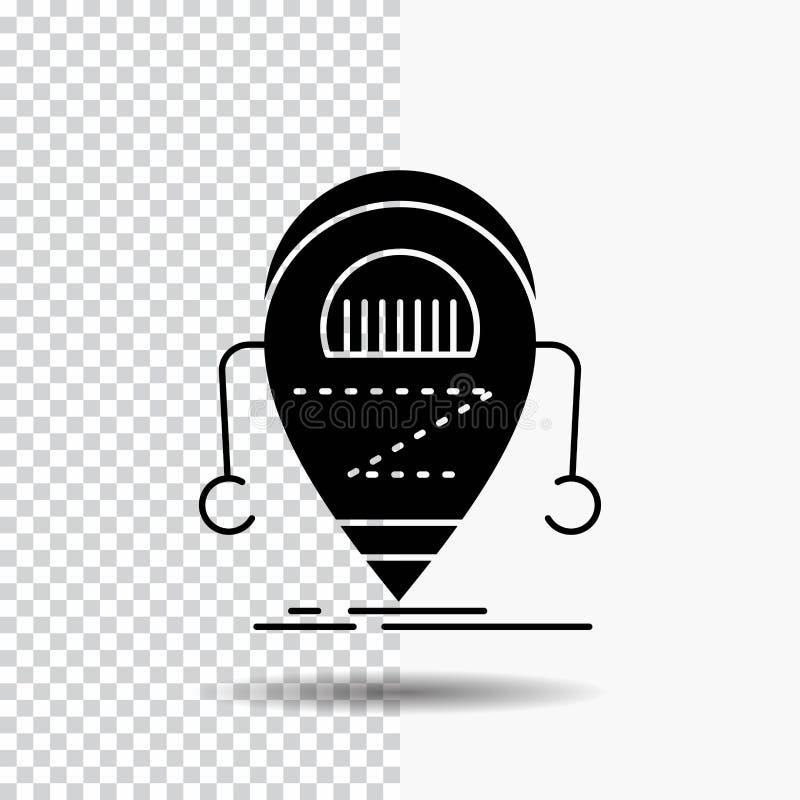 Android beta, droid, robot, teknologiskårasymbol på genomskinlig bakgrund Svart symbol royaltyfri illustrationer