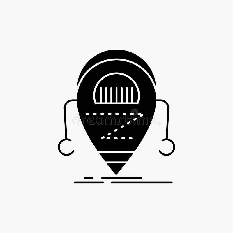 Android beta, droid, robot, teknologiskårasymbol Vektor isolerad illustration royaltyfri illustrationer