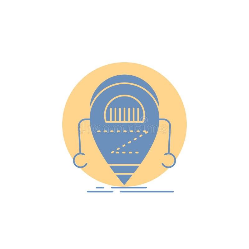 Android beta, droid, robot, teknologisk?rasymbol royaltyfri illustrationer