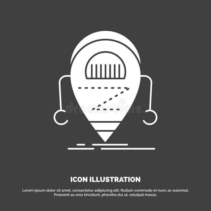 Android beta, droid, robot, teknologisymbol r royaltyfri illustrationer