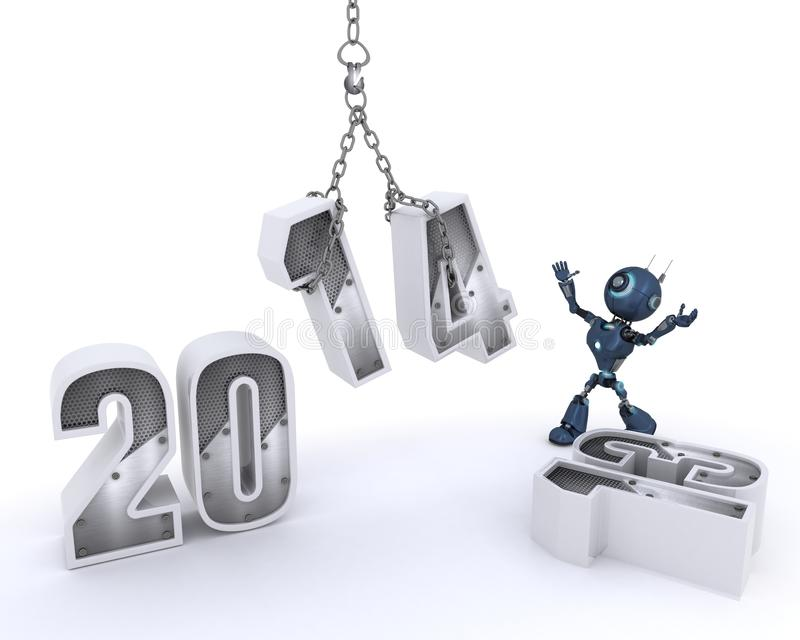 Download Android Bringing In The New Year Stock Illustration - Image: 33981882