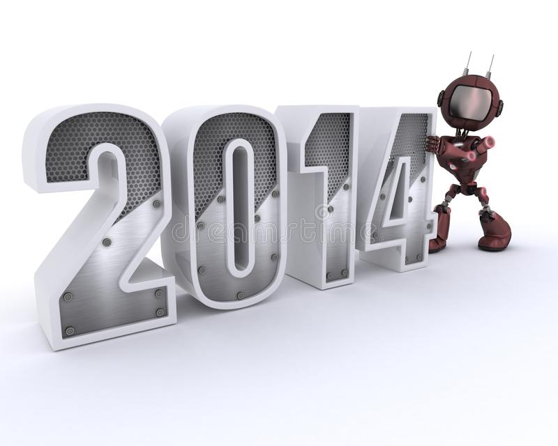 Download Android Bringing In The New Year Stock Illustration - Illustration: 33982007