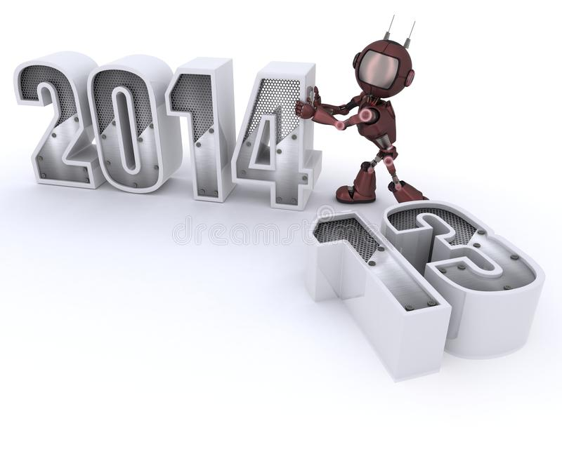 Download Android Bringing In The New Year Royalty Free Stock Image - Image: 33982016