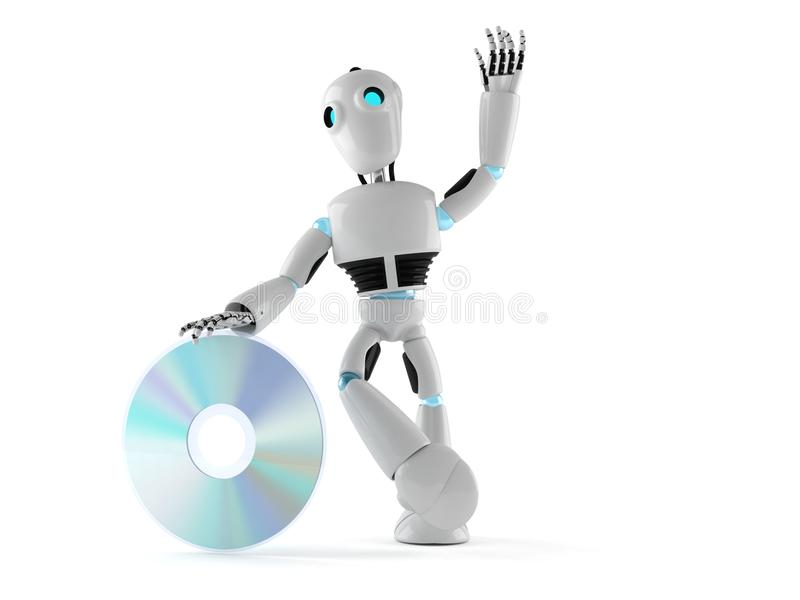 Android with cd stock illustration