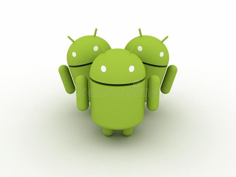 Download Android Character Group editorial photo. Image of application - 20377231