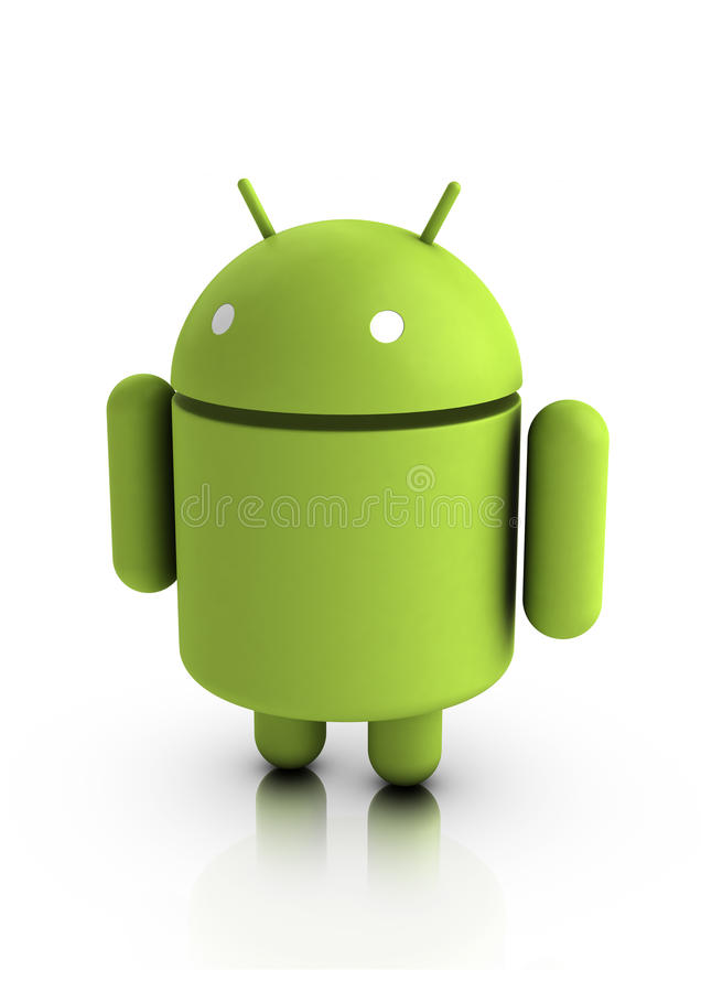 Android characters vector illustration