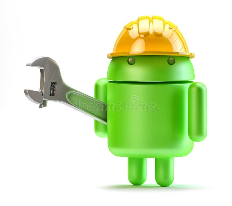 Download Android Com Chave Ajustável. Conceito Da Tecnologia. Imagem de Stock Editorial - Ilustração de marketing, coordenador: 33411689