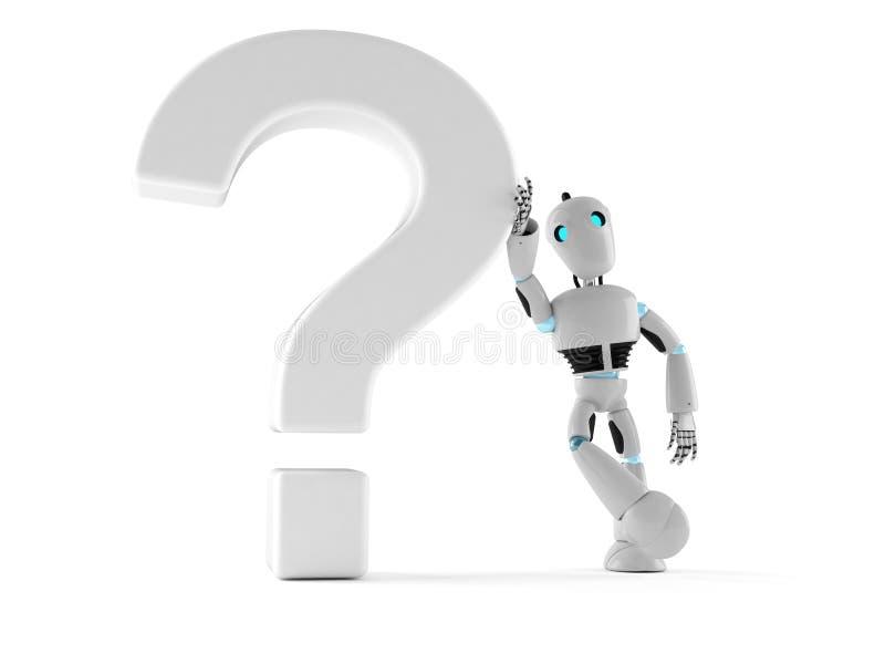 Android con el signo de interrogación ilustración del vector