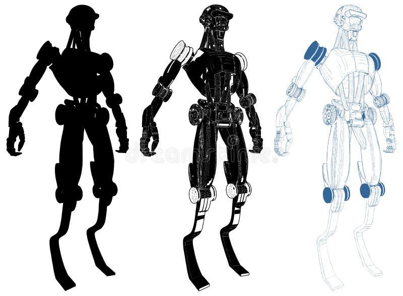 Android con vector interno de la tecnología libre illustration