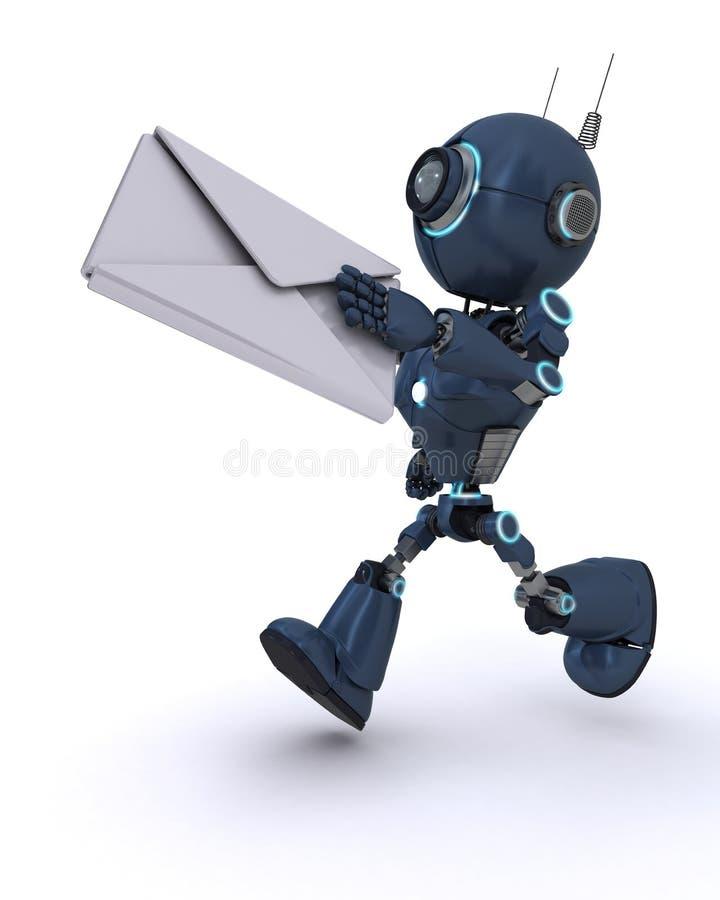 Android dostarcza list ilustracja wektor