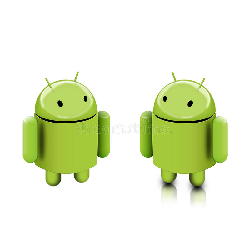 Android dude stock illustration