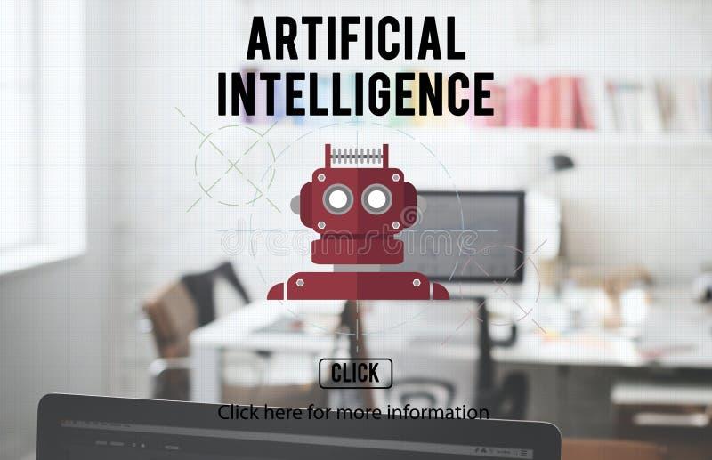 Android för robotteknik för robotCyborgAI begrepp royaltyfri foto