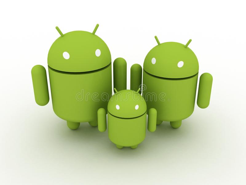 Android Family vector illustration