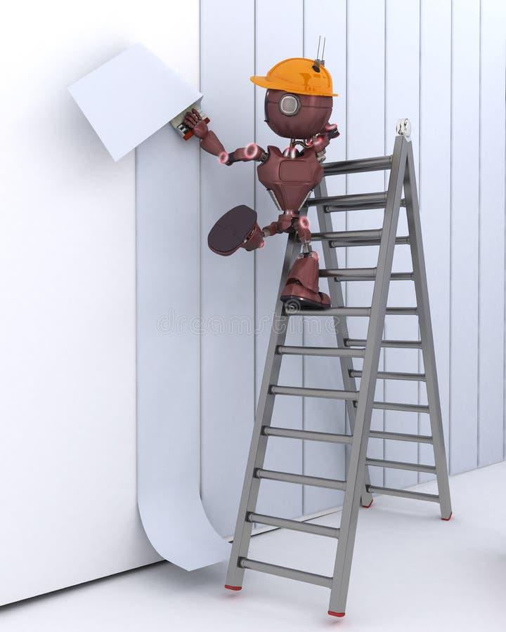 Android hängande tapet stock illustrationer