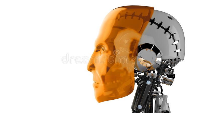 Android head. A 3D design of an android head stock illustration