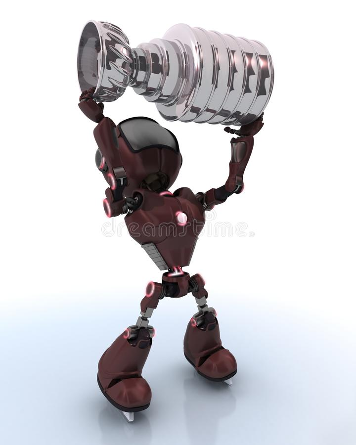 Android ice hockey champion royalty free illustration