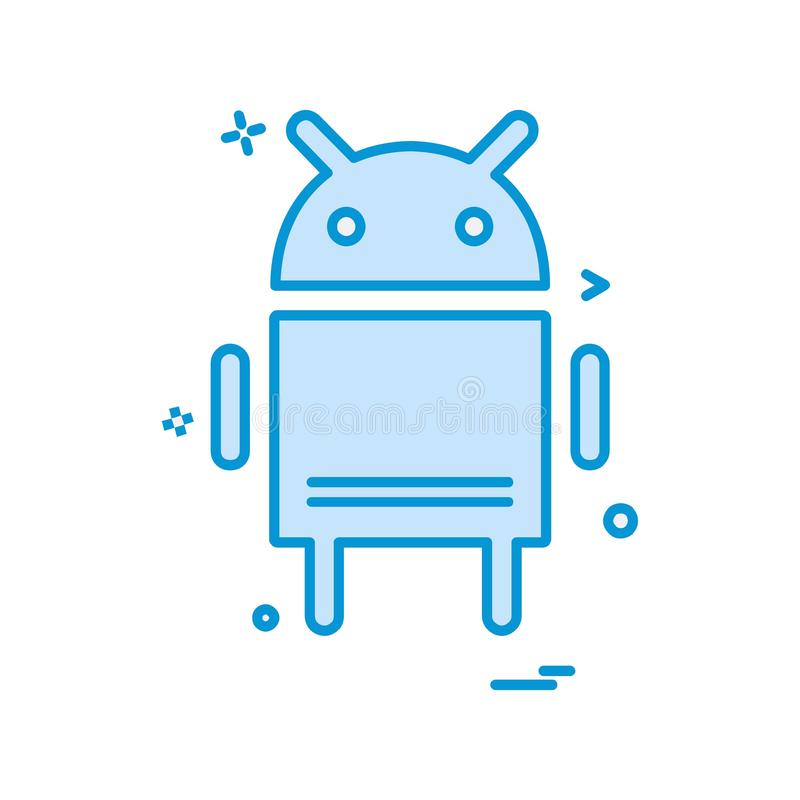 Android-Ikonendesignvektor vektor abbildung