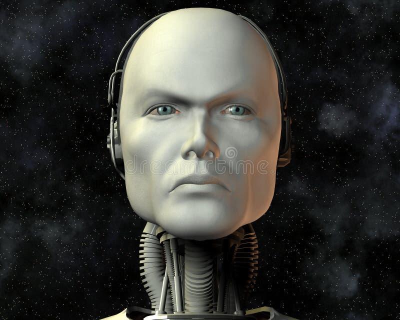 Android, intelligenza cibernetica illustrazione vettoriale