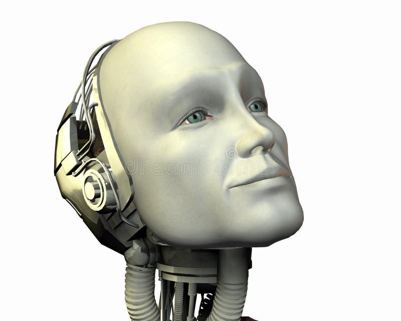 Android, intelligenza cibernetica royalty illustrazione gratis