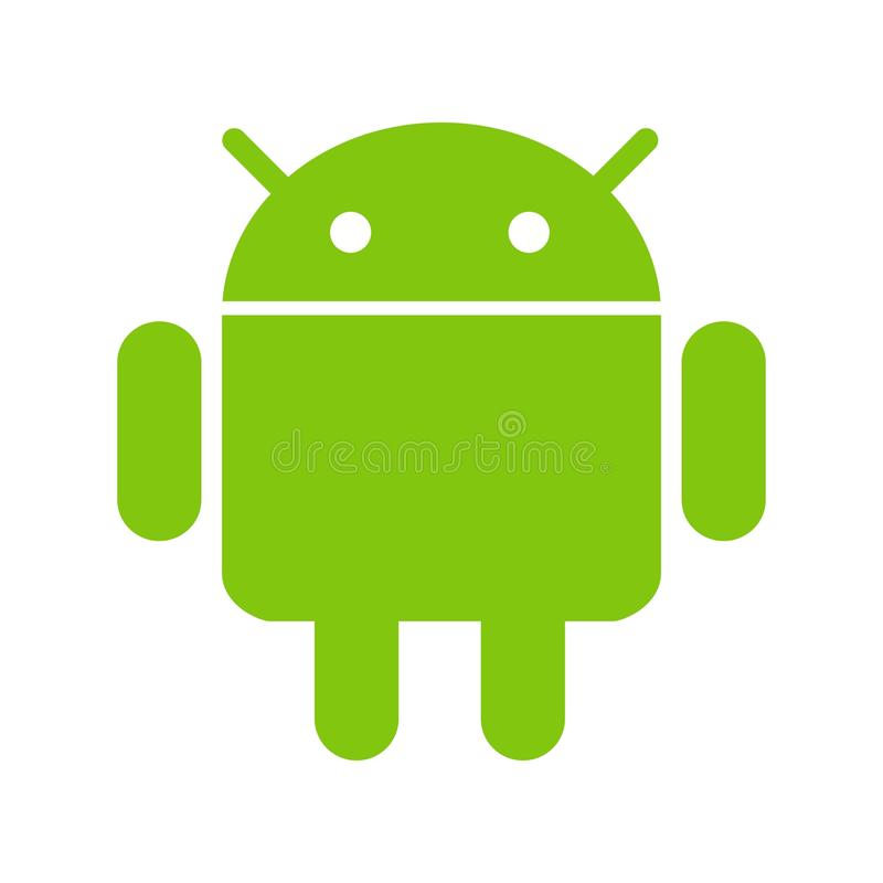 Android. Ipad, iphone icon vector image. Can also be used for social media logos. Suitable for mobile apps, web apps and print media royalty free illustration
