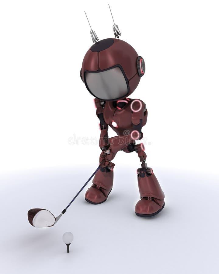 Android jouant le golf illustration libre de droits