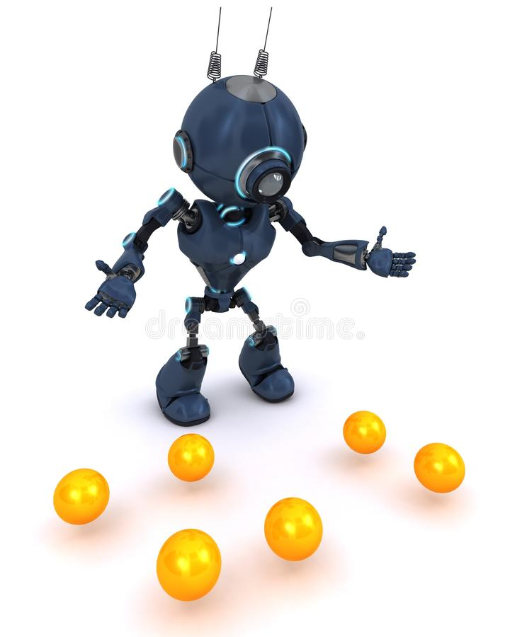 Android juggler stock illustration