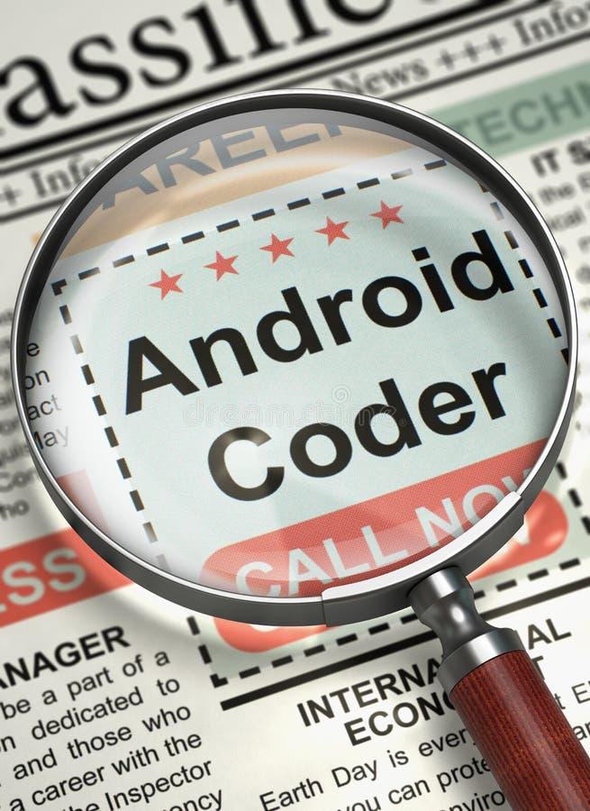 Android-Kodierer verbinden unser Team 3d stockfotos