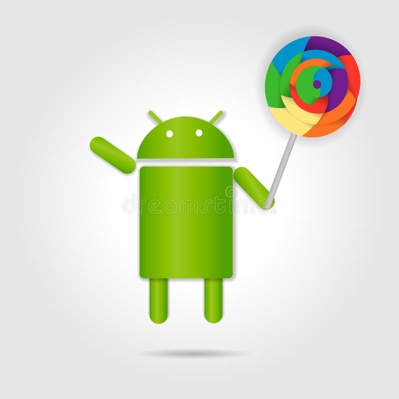 Android lollipop. On gray background vector illustration