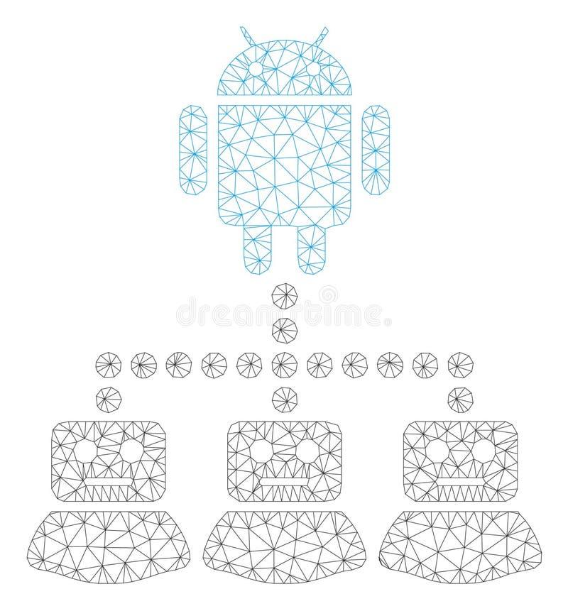 Android-Manager Polygonal Frame Vector Mesh Illustration lizenzfreie abbildung