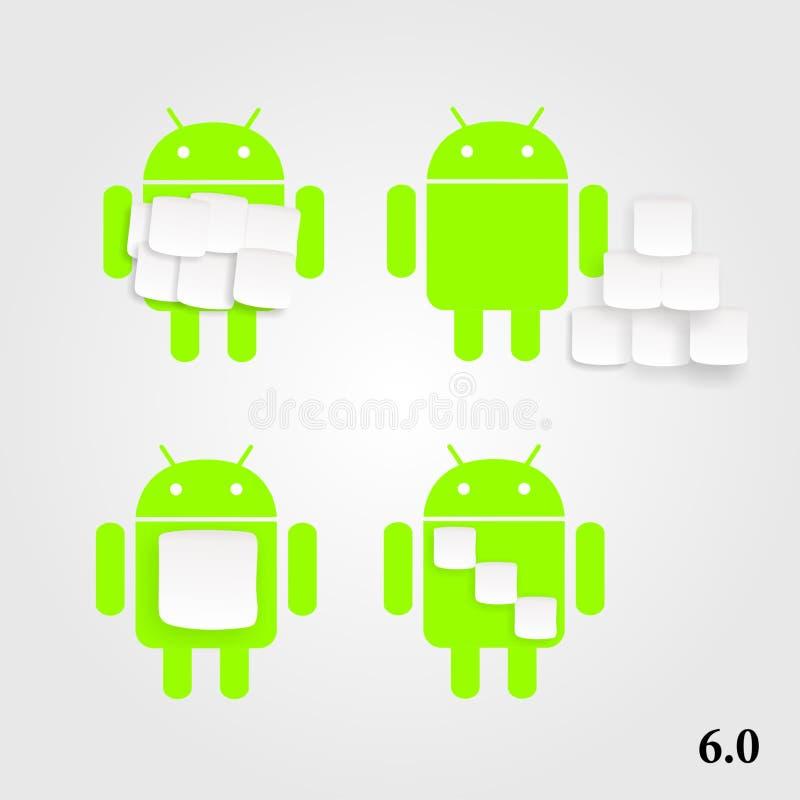 Android marshmallow royaltyfri illustrationer