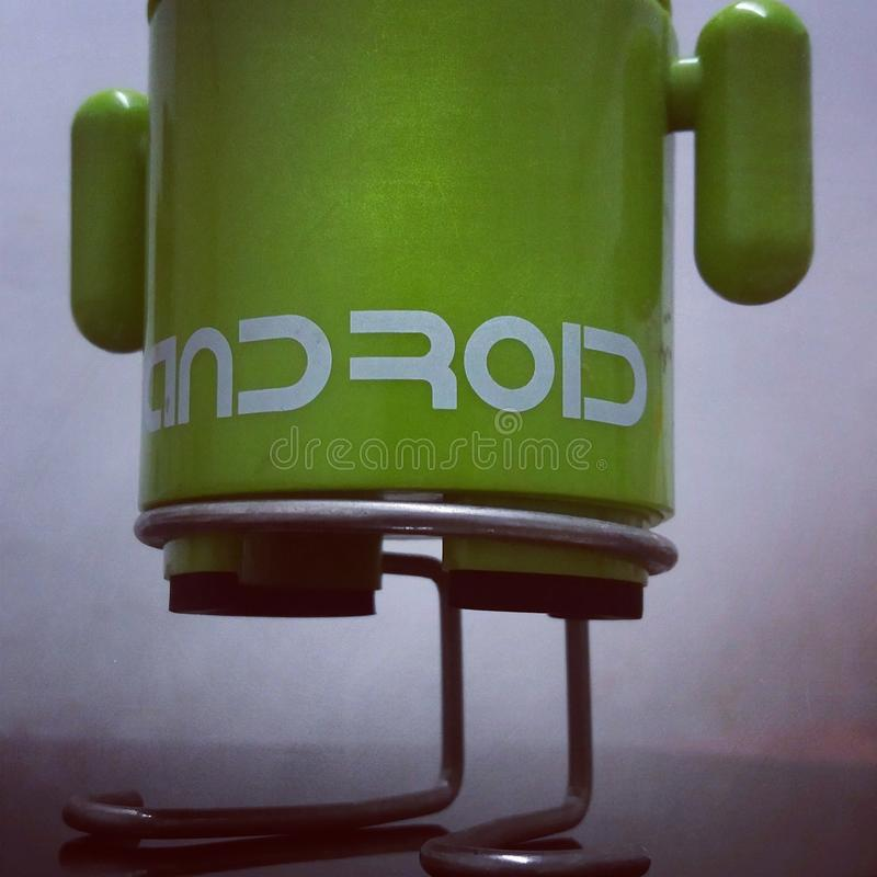 Android mini green samsung speaker royalty free stock image