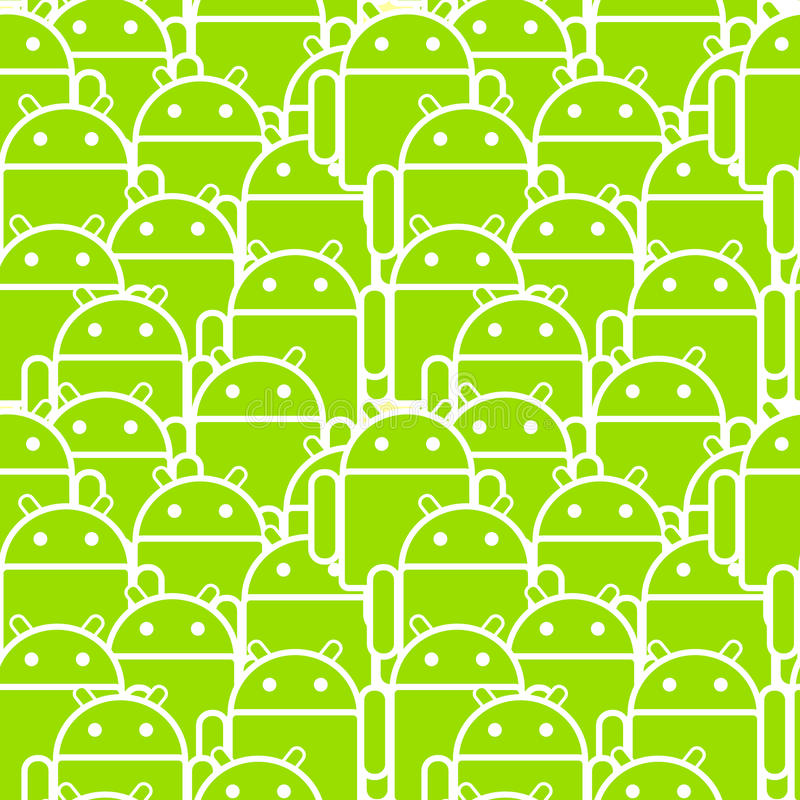 Android Mob stock illustration