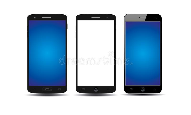 Android Mobile Phone. Illustration of android touch screen mobile phone latest model. stylish touch screen cellphone mock-up. Generic android touch screen cell vector illustration