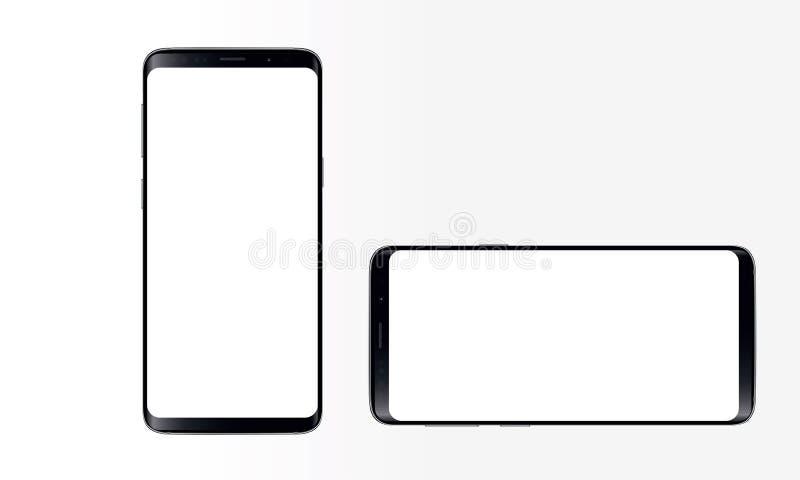 Android mobiltelefon royaltyfri illustrationer