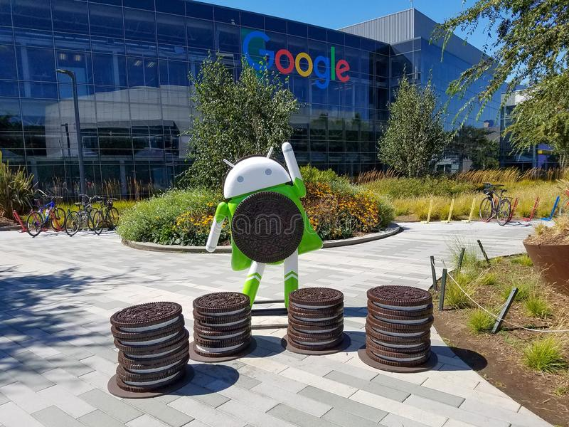 Android Oreo, Android 8 stock photo