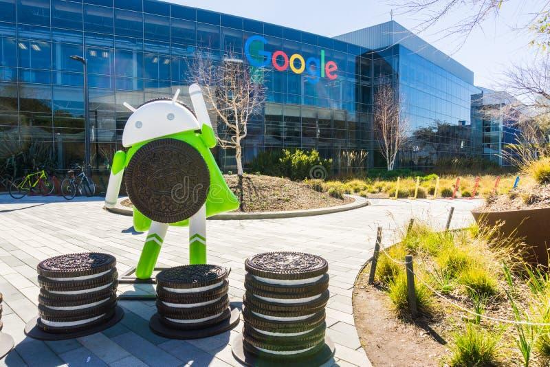 Android 8 0 ` Oreo-` Skulptur lizenzfreie stockfotografie