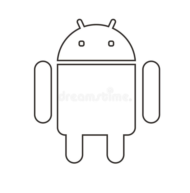 Android phone Line Icon  full royalty free illustration
