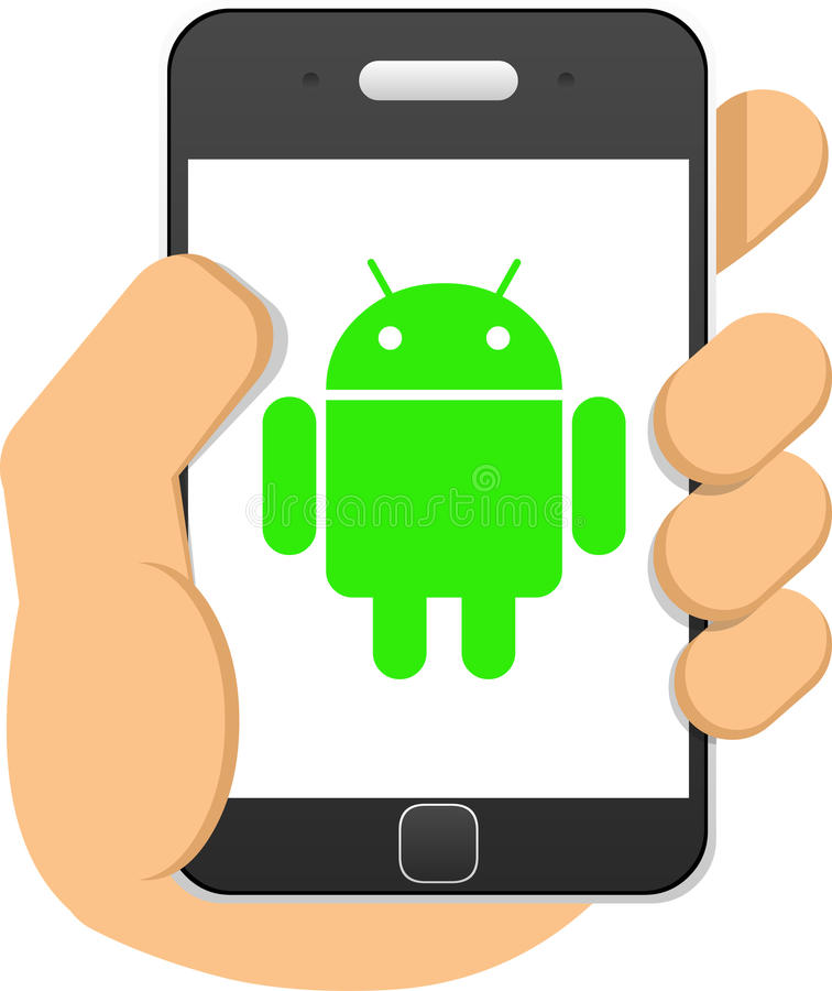 Android phone vector illustration