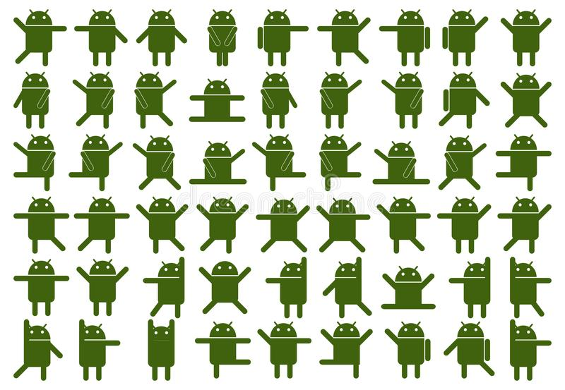Android-pictogrammen stock illustratie